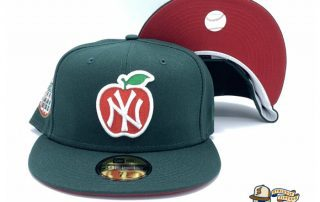 New York Yankees Apple Dark Green 59Fifty Fitted Hat by MLB x New Era