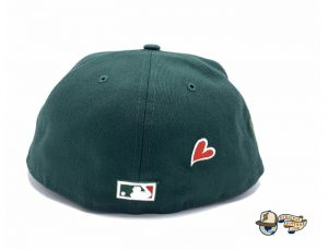 New York Yankees Apple Dark Green 59Fifty Fitted Hat by MLB x New Era Back