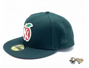 New York Yankees Apple Dark Green 59Fifty Fitted Hat by MLB x New Era Left