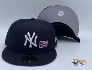 New York Yankees Puerto Rico 59Fifty Fitted Hat by MLB x New Era Navy