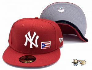 New York Yankees Puerto Rico 59Fifty Fitted Hat by MLB x New Era Red