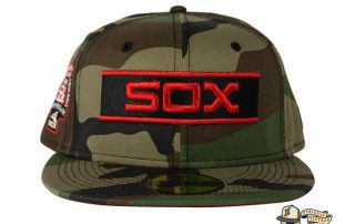 Chicago White Sox Woodland Camo Side Patch 59Fifty Fitted Hat by MLB x New Era