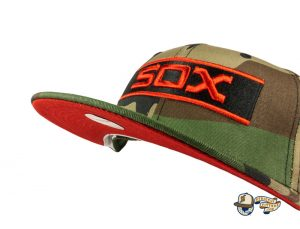 Chicago White Sox Woodland Camo Side Patch 59Fifty Fitted Hat by MLB x New Era Front