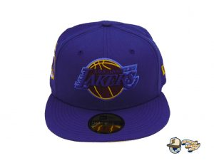 Los Angeles Lakers Champs Custom 59Fifty Fitted Hat by NBA x New Era Front