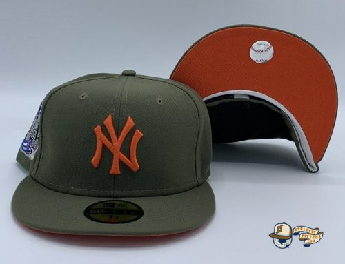New York Yankees Subway Series 2000 Olive Orange 59Fifty Fitted Hat by MLB x New Era